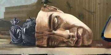 ilustrasi kepala manusia yang dipenuhi oleh sampah. (dok. internet).