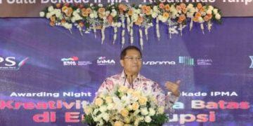 Menteri Komunikasi dan Informasi Rudiantara menyampaikan sambutan dalam acara
