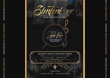 Pamflet Acara Simfoni XV Paduan Suara Angkatan Reswara