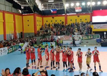 Tim Voli Indonesia setelah mengalah tim Malaysia di GSG UIN Walisongo, Senin (22/6/2019) (Amanat/Fika)