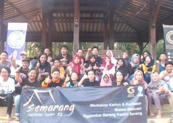 Peserta Semarang Cartoon Camp jilid 2. (Amanat/Hasib)