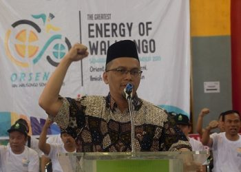 Rektor UIN Walisongo, Imam Taufiq  saat membuka Orsenik 2019 di GSG, Rabu (18/9/2019) (Amanat/Hasib).