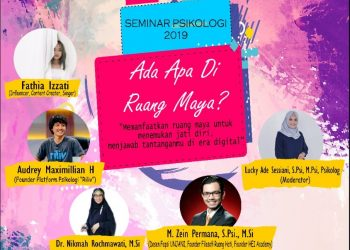 Pamflet acara seminar psikologi (Dokumen Istimewa).
