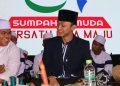 Gus Azmi saat mengisi shalawatan dalam acara Pemuda Sholawatan (Amanat/Fitriya).