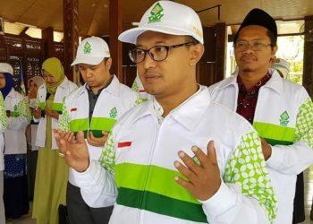 Kepala Pusat Pengabdian kepada Masyarakat Lembaga Penelitian dan Pengabdian kepada Masyarakat (LP2M) Mukhamad Rikza saat pembekalan KKN Reguler 73.