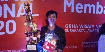 Zaidie Nur peraih penghargaan Adi Acarya Award 2020. (12/03/2020) (Amanat/Azzam)