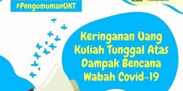 Poster pengumuman pengurangan UKT yang ada di akun instagram UIN Walisongo Semarang (Dokumen istimewa).