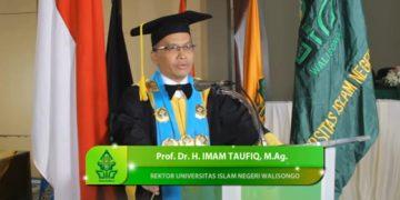 Tangkap Layar Rektor UIN Walisongo Sambutan Wisuda. (Dokumen Istimewa).