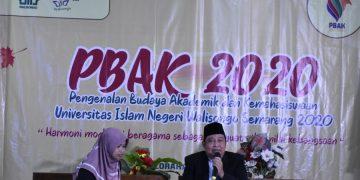 Wakil Dekan I FPK Baidi Bukhori menyampaikan materi PBAK hari ke dua (08/09/2020) (Dokumen Istimewa).
