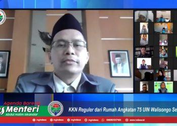 Rektor UIN Walisongo Imam Taufiq dalam pelepasan ĶKN RDR angkatan 75. Selasa (06/10/2020) (Dokumen Amanat).