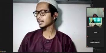 Tangkap layar M. Abdurro'uf dalam webinar yang diadakan oleh mahasiswa KKN RDR  75 UIN Waslisongo Semarang, Rabu (11/11/2020). (Dok. Istimewa)