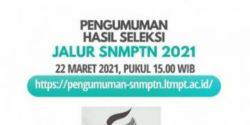 Pamflet pengumuman SNMPTN di Instagram UIN Walisongo, Senin (22/03/2021)(Doc.Instagram UIN Walisongo).