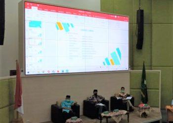 Biro AAKK (kiri) Wakil Rektor III (tengah) dan KaBag Akademik (kanan) saat memimpin rapat Audiensi Orsenik 2021 di Ruang Theatrikal Gedung Rektorat Kampus III. Kamis (02/09/2021)