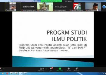Dokumentasi Silaturahmi FISIP dengan Wali Mahasiswa Angkatan 2021